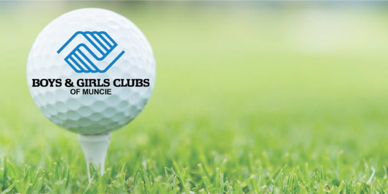 Golf Tee with ball labeled with Boys & Girls Club Logo